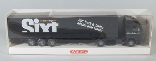 "Wiking 516/6 Iveco Pritschen-Sattelzug ""Sixt Budget"""