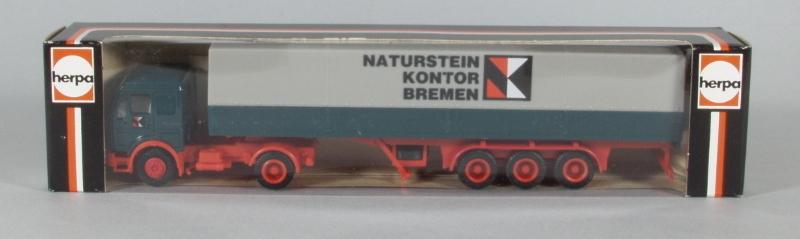 """Naturstein Bremen herpa werbemodell mb sattelzug """" naturstein kontor bremen"""" - b&s"""