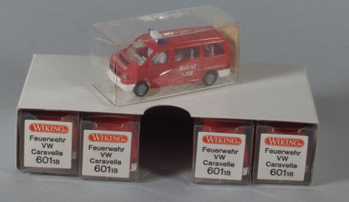 5 x Wiking 601/2A VW Caravelle Feuerwehr